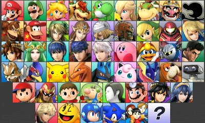 A full roster of 51 characters (inluding the 3 Mii Fighters playstyles)!